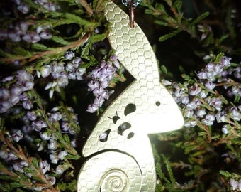 Hare Bee and Honeycomb Spiral Pendant,Jewellery, UK, Free Shipping, Vegan, SquareHare