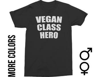 Vegan Class Hero, Animal Rights, Human Rights, Animal Liberation, Plant Based, Vegan,  Vegan Clothing, Vegan Apparel