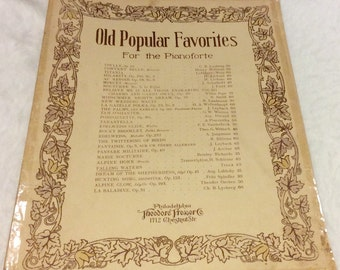 Old Popular Favorites Falling Waters sheet music 1900's