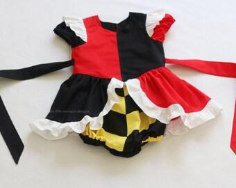 Queen of Hearts Romper - Queen of Hearts Costume - Alice in Wonderland - Queen of Hearts - White Rabbit - Alice in Wonderland Costume