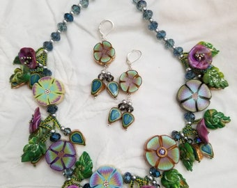 Blues Secret Garden Necklace Set