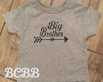 Big Brother Tee T-Shirt Arrow Trendy Tribal Little Boy Newborn Baby Shower Gift Present 2T 3T 4T 5 6 7 8 YS YM YL Any Color