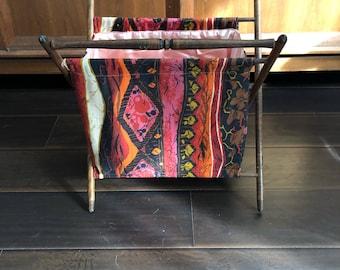 Vintage couture/tricot Caddie. Rose/Orange motif abstrait