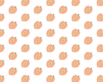 Peaches Gift Wrap, Wrapping Paper, Peach