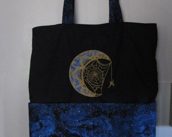 Elegant Moon Tote or Eco Friendly Purse Grocery or Shopping Bag