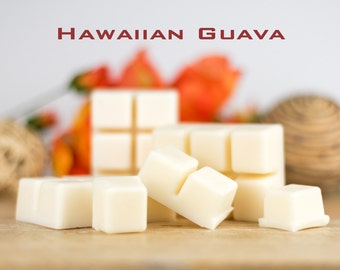 Soy Wax Melts - Hawaiian Guava Fragrance - Tropical & Fruity Scented Melts for Oil Burner - Flame Free Home Fragrance Handmade in Australia