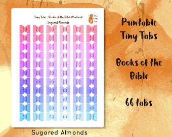 Printable Bible Tab // Books of the Bible Tab // Bible Journal // Bible Journaling // Bible Reading // Bible Study // DIY Bible Tabs