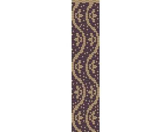 Lotus Peyote cuff bracelet