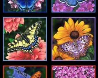 Butterfly Garden Panel by Elizabeth Studios