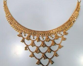 22 k Gold Choker Necklace fine handmade jewelry