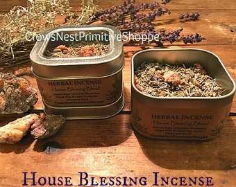 House Blessing pure herbal loose incense mixture to cleans and smudge your new home or space~ Choose 1/2 ounce or 1 ounce container
