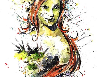 Poison Ivy -  Watercolour Print