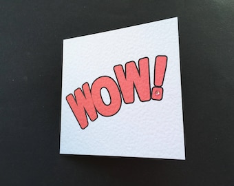 Wow Blank Card Square