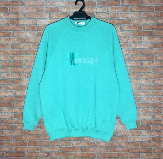 Rare!!! Courreges Sweatshirt Pullover Ladies L Size Rare zjBrY