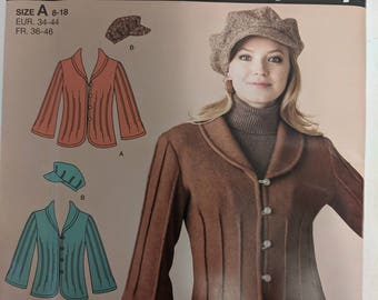 0729, Simplicity, It's so Easy, Jacket Pattern, Uncut, Destash, Out of Print, Sizes 8-18