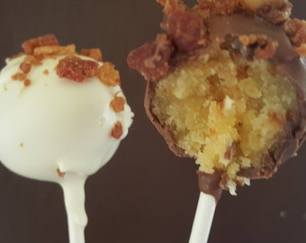 MAPLE BACON Cake Pops! Gourmet Bacon cake, Maple Cake, Birthday Gift, Father's Day gift, Cake pop favors