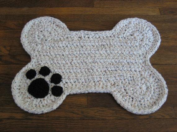 Crochet Dog Food Mat