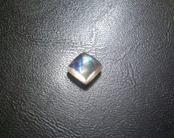 8 mm Natural RAINBOW moonstone square cabochon gemstone.... have lots of beautiful.....