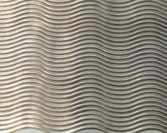 Bronze Textured Metal Sheet Narrow Waves Pattern 24g - 6 x 2 1/4 inches Bracelets Pendants Metalwork