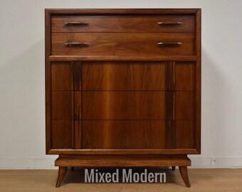American of Martinsville Walnut Dresser