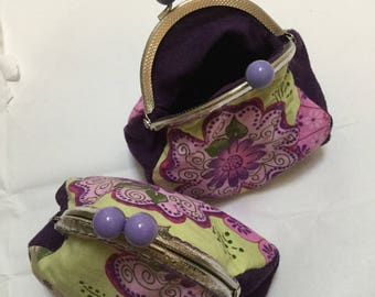 "Retro purse A GUSSET on the theme ""purple flowers"""