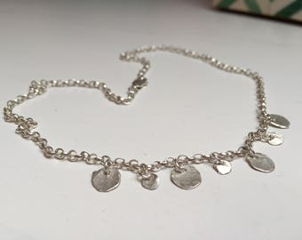 925 Silver Disc Necklace