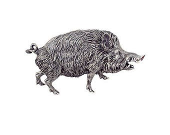 "Silver Jewelry box ""Wild boar"""
