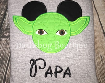 Yoda Mickey Mouse shirt with name