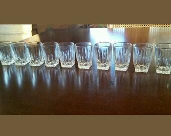 Vintage Federal Glass Co. Shot glasses. Set of 10