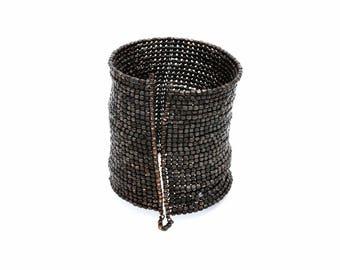Metal Beaded Cuff Bracelet