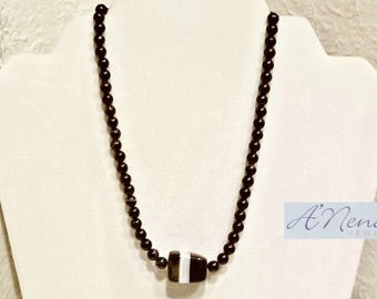 """Men's Necklace:  Onyx  """"Successful & Hopeful"""" By ANena Jewelry"""
