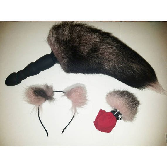 first ever vibrating fox tail butt plug your choice of small