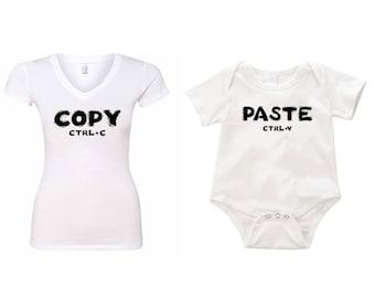Copy Paste combo Romper onesie creeper T-shirt V