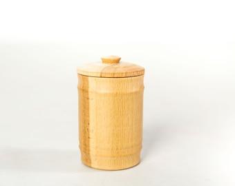 Wooden items Wooden pot Cookware Pot with lid Rustic pot Kitchen storage Salt cellar Salt jar Kitchen decor Sugar pot Sugar cellar Woodwork