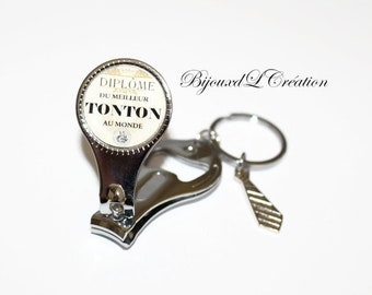 Graduation best Uncle cut nail bottle opener keychain