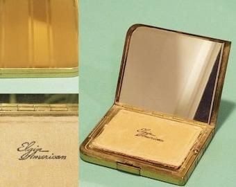 Beautiful, vintage 40's 50's, Elgin American, powder compact!