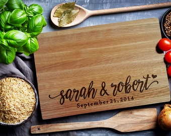 Custom Cutting Board, Home & Living, Personalized cutting Board, Wedding Monogram,  Wedding welcome sign (207)