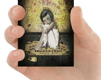 ACEO Card | Gothic ACEO Card | Goth Girl Art | ACEO Art Card | Miniature Art Print | Voodoo Doll