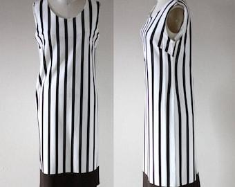 1960s striped shift dress // 1960s sleeveless dress // vintage dress