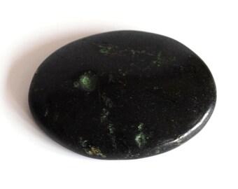 Black Tourmaline Natural Crystal Palm Stone / Worry Stone / Cabochon