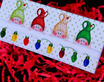 Christmas Gift Card Money Envelope, Gift Card holder, Money holder, Holiday Gift Card Envelope, money envelope.  Set of 10