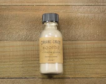 mini S O O T H E Cleansing Grains + Facial Mask | Facial Cleanser | 3 in 1 | Organic Face Wash | Organic Face Mask | Herbal Skin Care