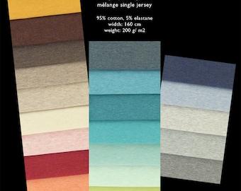 JARO MÈLANGE cotton single jersey