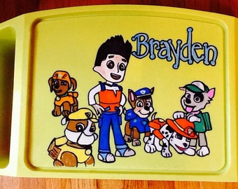 Paw patrol lap tray, paw patrol TV tray, paw patrol activity tray, paw patrol game tray, boys game tray, boys art tray, boys TV tray,