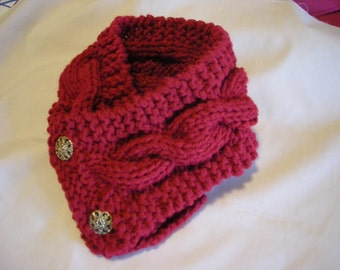 Double Knit Cowl Cable Scarf Pattern PDF file