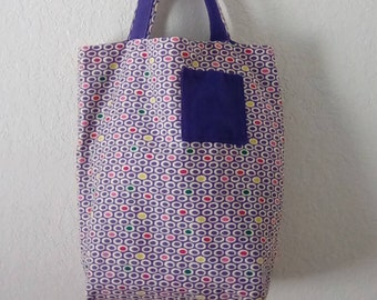 Reversible Tote bag (Medium), with pockets