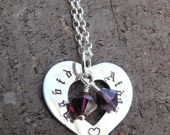 LIMITED TIME SALE The Mothers Heart - a Customizable Necklace...10 font choices