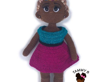 Crochet Doll Pattern - 18 inch crochet doll pattern - Amigurumi doll pattern - Leilani doll pattern - PDF Crochet doll pattern