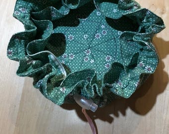 Jewelry Travel Pouch - Green Floral