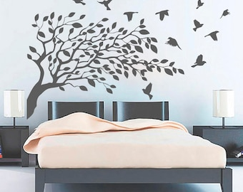 Tree Wall Decals Bird Decal Tree Wall Decal Bird Wall Art Nature Wall Decor Nursery Wall Decal Nursery Bedroom Stickers Vinyl Decal SL36  sc 1 st  Etsy & Nature wall decal   Etsy